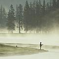 Fishermen In The Morning Mist by Raymond Gehman