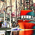 Fishing Boat In Harbor by One Rude Dawg Orcutt