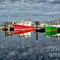 Fishing Boat Reflections At Macmillan Pier In Provincetown Cape  by Matt Suess