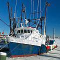 Fishing Boats In Frozen Hyannis Harbor by Matt Suess