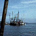 Fishing Boats In Harbor by One Rude Dawg Orcutt