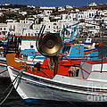 Fishing Boats Mykonos by Bob Christopher