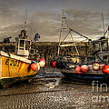 Fishing Boats On The Cobb by Rob Hawkins
