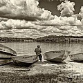 Fishing By The Boats 2 by Jack Paolini