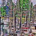 Fishing Docks Hdr by Randy Harris