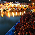 Fishing Harbour At Dusk by Gaspar Avila