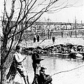 Fishing In The Bronx River,  New York by Everett