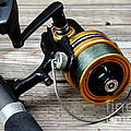 Fishing Rod And Reel . 7d13549 by Wingsdomain Art and Photography