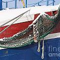 Fishing Vessel In Winter's Rest by Heiko Koehrer-Wagner