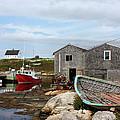 Fishing Village In Nova Scotia by Kristin Elmquist
