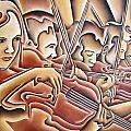 Five Violins by Rick Borstelman