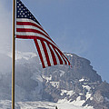 Flag And The Mountain by Rick Pinson