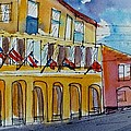 Flags On The Buildings by Diane Elgin