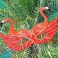 Flamingo Mask 4 by Lizi Beard-Ward