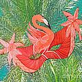 Flamingo Mask 8 by Lizi Beard-Ward