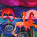 Flamingos by Sandra Kern