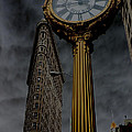 Flatiron Building And Clock by Andrew Fare