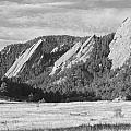 Flatirons Boulder Colorado Black And White Photo by James BO  Insogna