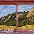 Flatirons Boulder Colorado Red Barn Picture Window Frame Photos  by James BO Insogna