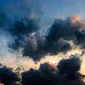 Fleecy Sunset Clouds  1208 by Fritz Ozuna