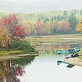 Float Plane On Pond Near Golden Road Maine Photo Poster Print by Keith Webber Jr