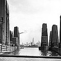 Floating Grain Elevators In Ny by Underwood Archives
