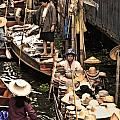 Floating Market Bangkok by Charuhas Images