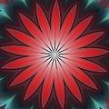 Floral Geometric 102311a by David Lane