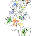 Floral Watercolor Paintings 4 by Gordon Punt