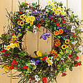 Floral Wreath by Cindy Haggerty