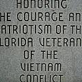 Florida Vietnam War Memorial by Duwayne Washington