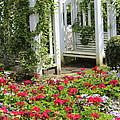 Flower Garden Seat  by Debra     Vatalaro