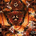 Flower Pattern In Sepia by Ron Bissett