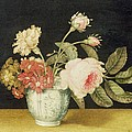 Flowers In A Delft Jar  by Alexander Marshal