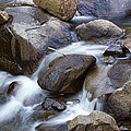 Flowing Water Down The Colorado St Vrain River by James BO  Insogna