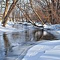 Flowing Water In The Winter by Janice Adomeit