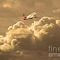 Fly Me To The Moon . Partial Sepia by Wingsdomain Art and Photography