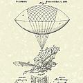 Flying Machine Spalding 1889 Patent Art by Prior Art Design