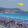 Flying Over The Nice Beach by Andrea Simon