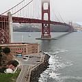 Fog At The San Francisco Golden Gate Bridge - 5d18872 by Wingsdomain Art and Photography