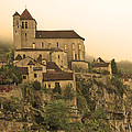Fog Descending On St Cirq Lapopie In Sepia by Greg Matchick