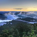 Fog Lifting At Sunrise by Heavens View Photography