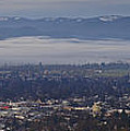 Fog Over A Grants Pass Morning by Mick Anderson