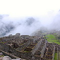Fog Rolling Into Machu Picchu by David Barnett
