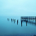Foggy Morning On Pensacola Bay by Ken Naylor