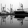 Foggy Reflections Bw by Kami McKeon
