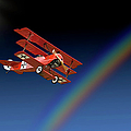 Fokker With Rainbow by Endre Balogh