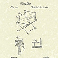 Folding Chair 1862 Patent Art  by Prior Art Design