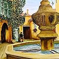 Fontaine De Venasque by Brigitte Grange