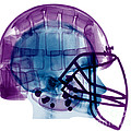 Football Helmet X-ray by Ted Kinsman